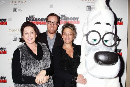 Tiffany Ward, Rob Minkoff, Mr.Peabody and Alex Schwartz