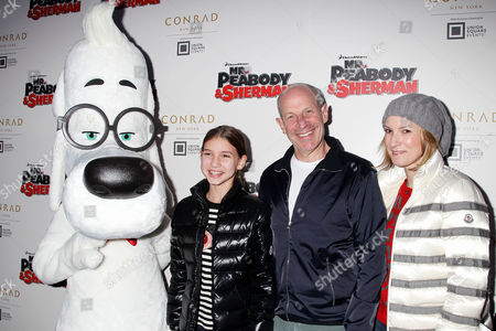 Jon Tisch with family and Mr.Peabody