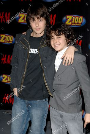 Stock Photo of Nat Wolff and Alex Wolf (The Naked Brothers Band)