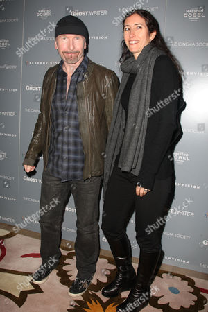 The Edge (David Evans) and Morleigh Steinberg (wife)