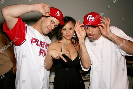 Stock Image of Richard Crazy Legs Colon, director Rosie Perez and DJ Tony Touch