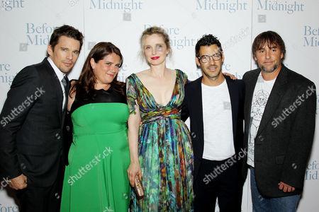 Stock Image of Ethan Hawke, Sara Woodhatch (Producer), Julie Delpy, Jacob Pechenik, Richard Linklater (Director)
