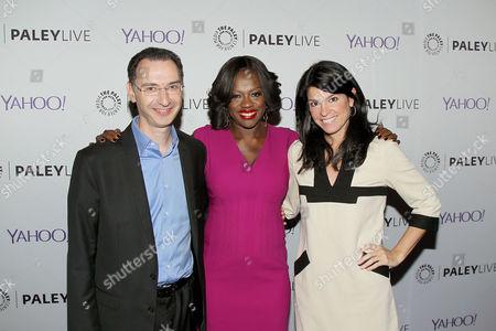 Paul Lee, Viola Davis, Maureen J. Reidy (Pres. & CEO The Paley Center for Media
