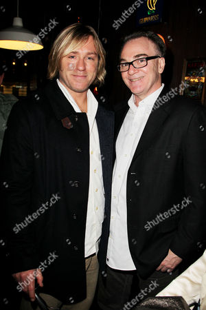 Stock Image of Ron Eldard and Eamonn Bowles (Pres., Magnolia Pictures)