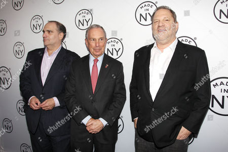 Bob Weinstein, Mayor Michael Bloomberg, Harvey Weinstein