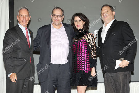 Mayor Michael Bloomberg, Bob Weinstein, Katherine Oliver, Harvey Weinstein