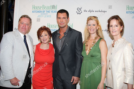 Newell Turner (House Beautiful Editor-in-Chief), Caroline Manzo, Jeff Lewis, Alex McCord and Kate Kelly Smith (House Beautiful VP/Publisher)