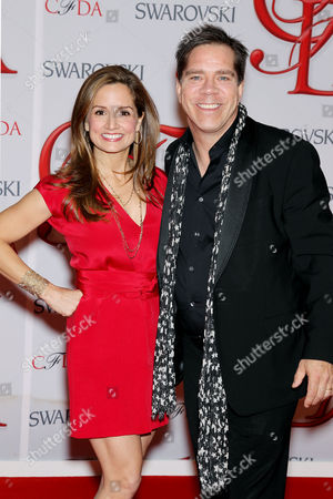 Stock Photo of Andy Hilfiger with wife Kim Hilfiger