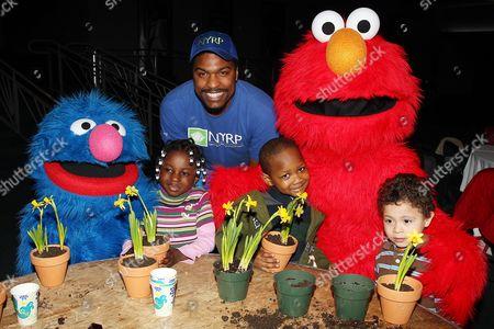 Editorial photo of Elmo and Grover celebrate 'Sesame Street Live: Elmo's Green Thumb', New York, America - 16 Feb 2011