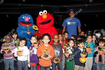 Editorial image of Elmo and Grover celebrate 'Sesame Street Live: Elmo's Green Thumb', New York, America - 16 Feb 2011