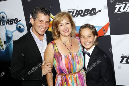 Stock Photo of Aaron Berger with parents