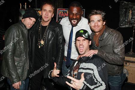 Brian Taylor, Nicolas Cage, Idris Elba and Johnny Whitworth