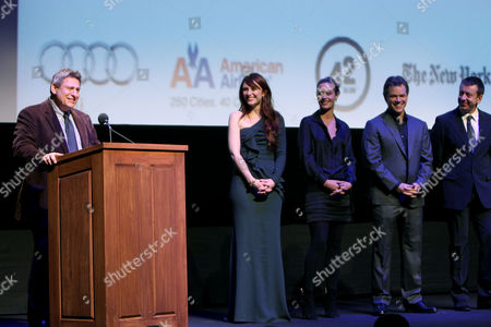 Richard Pena (Program Director NYFF) with Cast