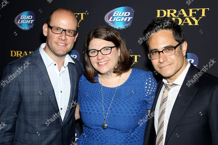 Stock Picture of Scott Rothman, Ali Bell and Rajiv Joseph