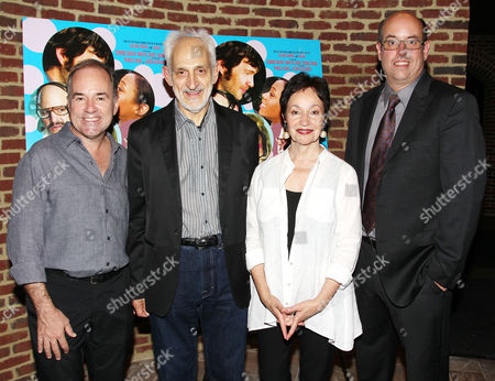 Stock Photo of Stephen Flaherty, Victor Syrmis, Lynn Ahrens, Christopher Ashley