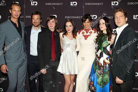 Stock Picture of Cast of Disconnect - Alexander Skarsgard, Jason Bateman, Jonah Bobo, Haley Ramm, Paula Patton, Andrea Riseborough, Henry Alex Rubin