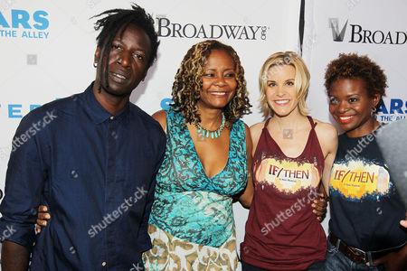 Saul Williams, Tonya Pinkins (Holler If Ya Hear Me), Jenn Colella and LaChanze (If/Then)