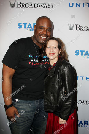 Stock Image of J Bernard Calloway and Betsy Aidem (All The Way)