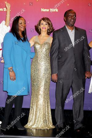 Pat Huston, Gary Houston and Whitney Houston waxwork
