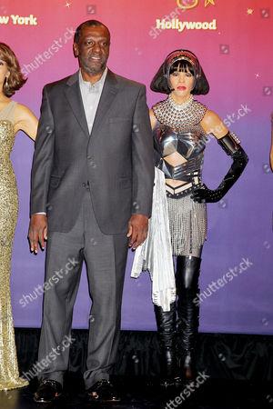 Gary Houston and Whitney Houston waxwork