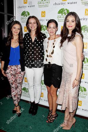 Viktoria Harrison, Jessica Stroup, Jane Lauder and Emmy Rossum