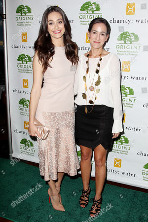 Emmy Rossum and Jane Lauder
