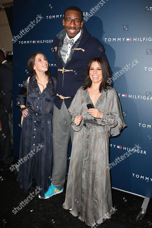 Stock Picture of Elizabeth Hilfiger, Amar'e Stoudemire and Ally Hilfiger