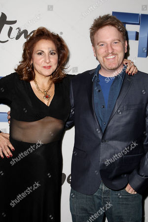 Stock Picture of Kathy Najimy with husband Dan Finnerty