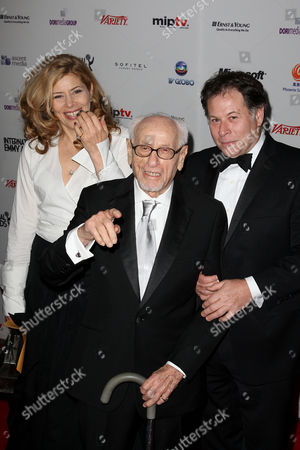 Eli Wallach with daughter Katherine and son Peter