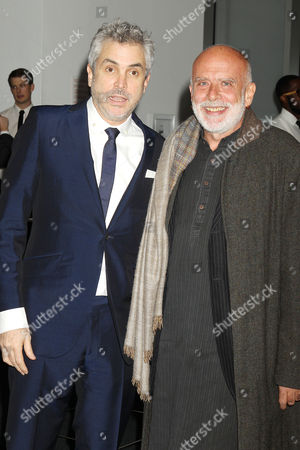 Stock Picture of Alfonso Cuaron and Francesco Clemente