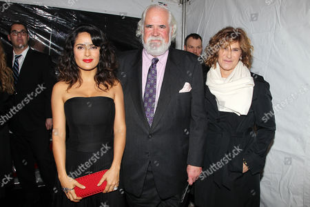 Salma Hayek, Jeff Blake and Amy Pascal