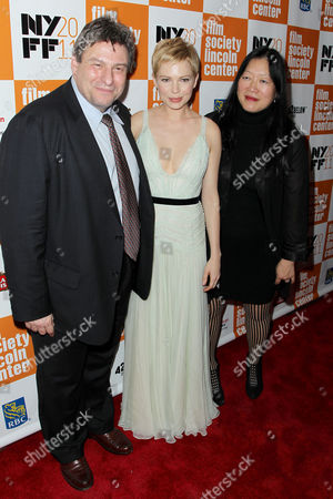 Richard Pena (NYFF), Michelle Williams, Rose Kuo (Pres. NYFF)
