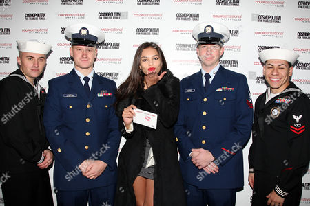 Lisalla Montenegro with troops