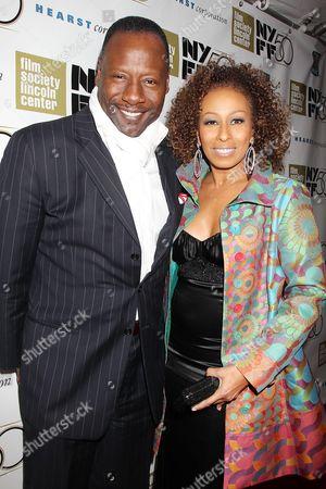 Stock Photo of Tamara Tunie and Gregory Generet