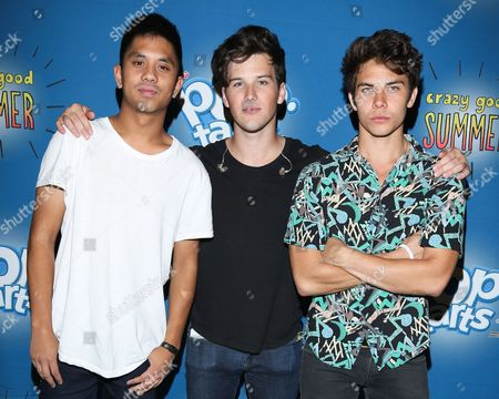 Editorial picture of Gym Class Heroes and Allstar Weekend photocall, New York, America - 16 Sep 2012