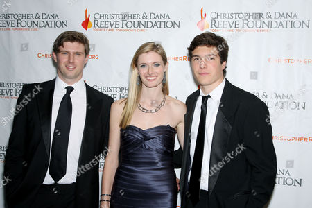 Stock Photo of Matthew Reeve,Alexandra Reeve Givens,Will Reeve
