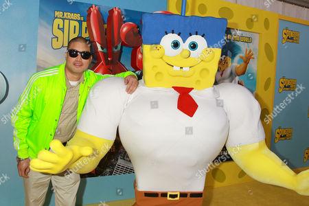 Chad Hugo with Spongebob