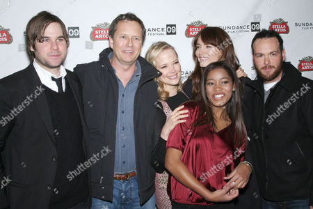 Pell James and Keke Palmer with other SHRINK (Cast)