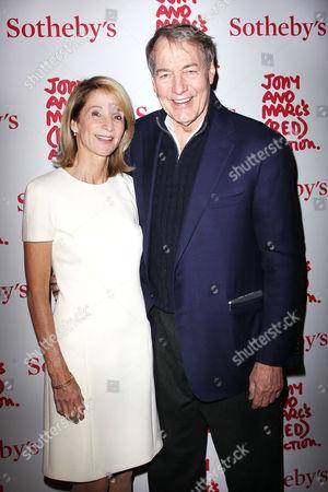 Amanda Burden and Charlie Rose