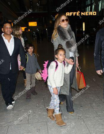 Jennifer Lopez, son Max Anthony and daughter Emme Maribel Muniz