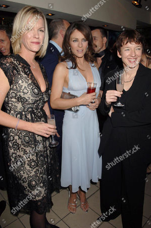 Elisabeth Murdoch, Elizabeth Hurley and Dawn Airey (managing director of Sky Networks)