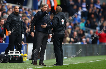Charlton Athletic manager Jose Riga appeals after the opening QPR goal during the Sky Bet Championship match between QPR and Charlton Athletic played at Loftus Road, London on April 9th 2016