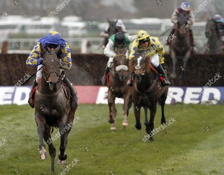 Stock Picture of MAGGIO (James Reveley) wins The Betfred Handicap Chase Aintree