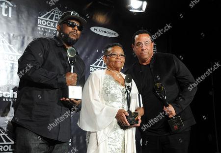 MC Ren, Kathie Wright, and DJ Yella