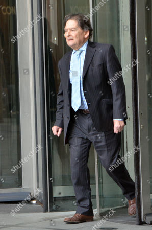 Stock Photo of Lord Lawson outside the BBC studios, Broadcasting House