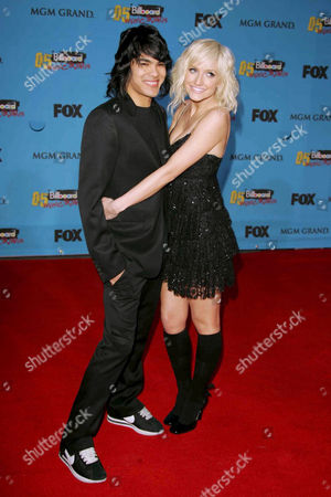 Stock Photo of Braxton Olita and Ashlee Simpson
