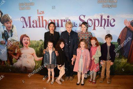 Stock Photo of Golshifteh Farahani, Caroline Grant, Muriel Robin, Anais Demoustier, Justine Morin, Celeste Carrale, Tristan Farge, Aelys Le Neve