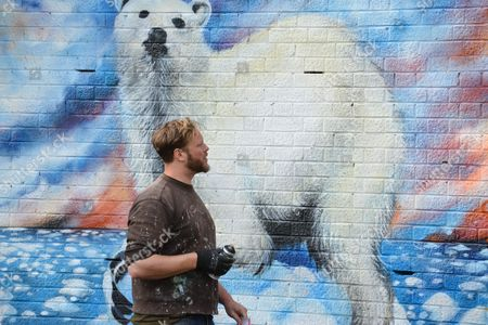 """Jim Vision Polar Bear """"ENDANGERED 13 brings together some of the UK's most talented artists, reflecting a growing concern about our relationship with nature"""