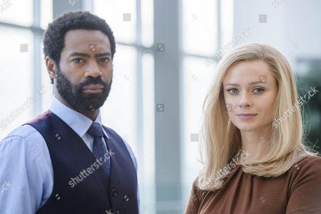 Nicholas Pinnock as Jason Summers and Maeve Dermody as Grace Gibson