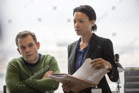 Jack Doolan as DC Mark Travis and Nina Sosanya as DCI Laura Porter